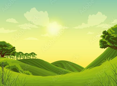 Foto op Plexiglas Pistache Landscape