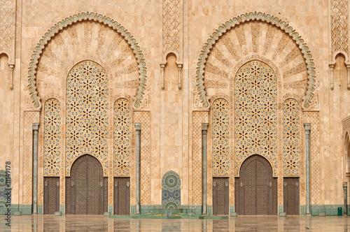 Foto Detail of Hassan II Mosque in Casablanca, Morocco