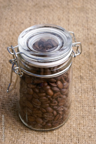 Door stickers Coffee beans conserve de café en grains