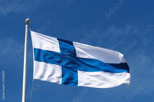 Valokuvatapetti Bandiera Finlandia