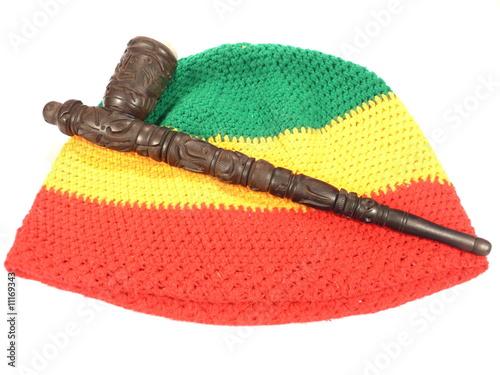 Fototapeta Potrubí a reggae čepice