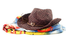 Staw Hat And Towel