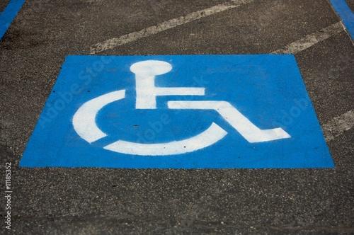 Valokuva  Blue accessibility symbol