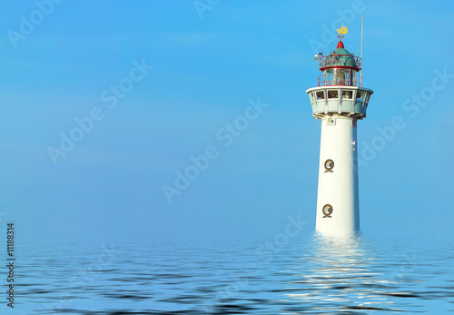 lighthouse reflecting Poster