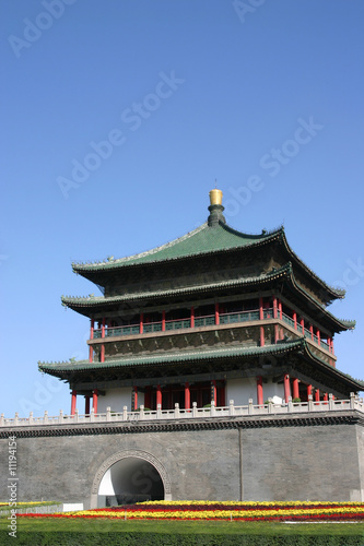 Foto op Aluminium Xian The Bell Tower, Xian City - China