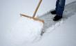 canvas print picture - Schnee räumen