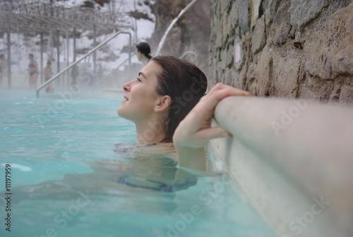 Valokuva Femme au bain chaud