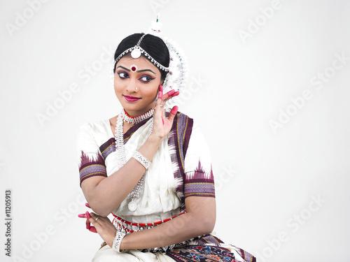 Fotografie, Obraz  indian classical female dancer