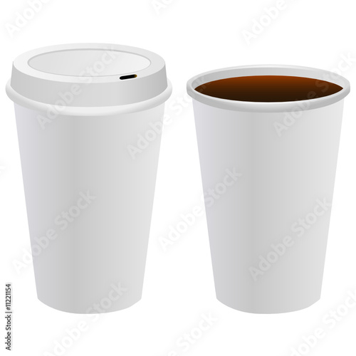Coffee Cup Template Vector