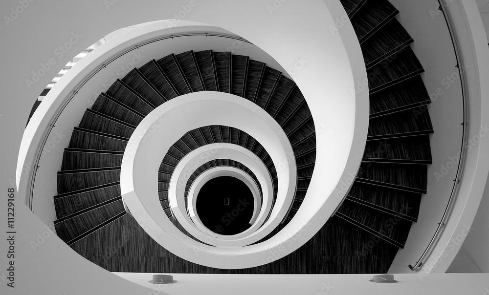 Fototapety, obrazy: Modern spiral stairs detail