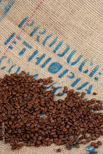 Deurstickers koffiebar café récolté en Ethiopie
