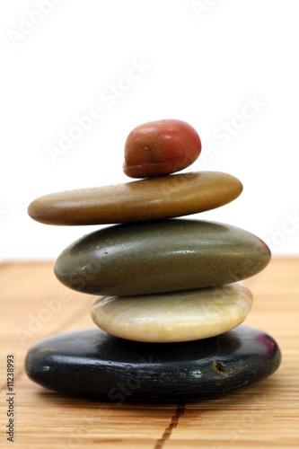 Doppelrollo mit Motiv - Balance (von Christian Jung)