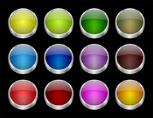 Colored Buttons - Vector