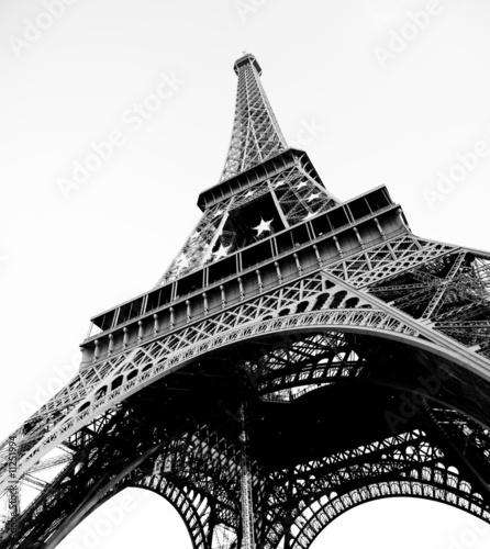 Photo Stands Eiffel Tower Eiffelturm Schwarz/Weiß