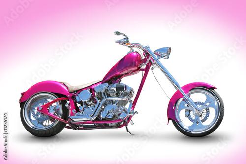 Cuadros en Lienzo Cool pink chopper