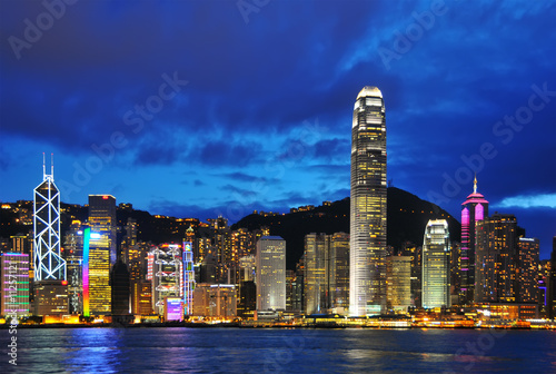 Photo  Hong Kong Skyline.