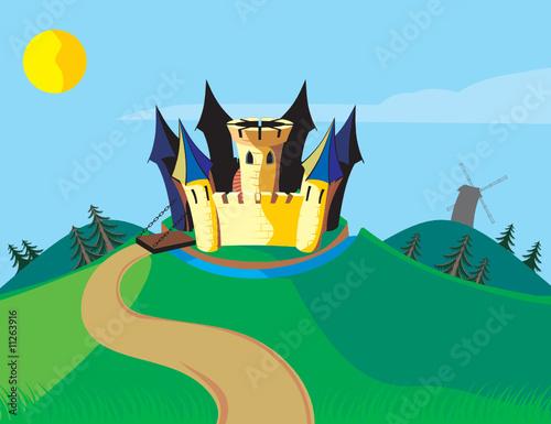 Staande foto Kasteel Fun castle