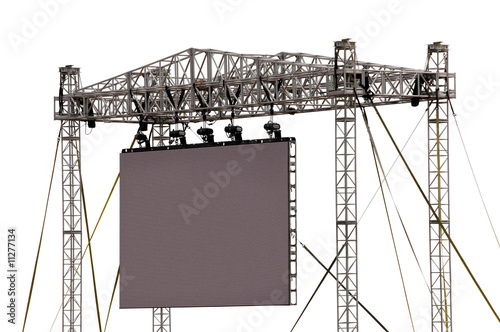 Recess Fitting Stadion Gigantic Outdoor Screen Isolated on White