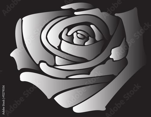 Staande foto Bloemen zwart wit silhouette of rose