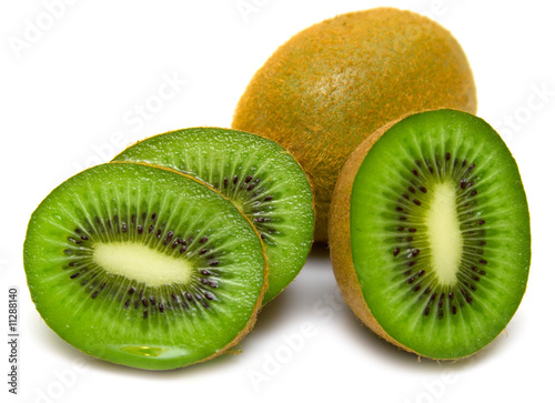 Fotografie, Tablou  kiwi fruit on a white