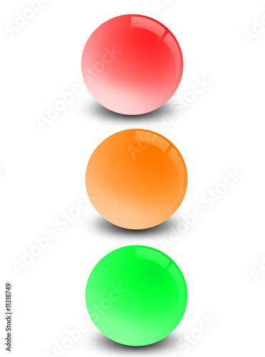 Fotomural Coloured orbs