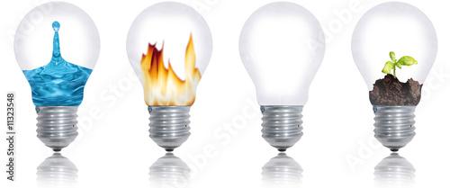Fotografia, Obraz  les quatres éléments: eau, feu, terre, air