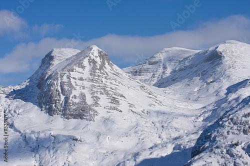 Fototapeta a winter mountains obraz na płótnie