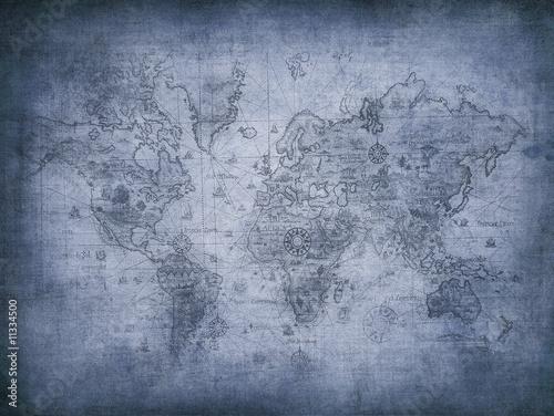 Fotobehang Wereldkaart grunge map of the world.