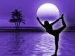 Leinwanddruck Bild - Yoga