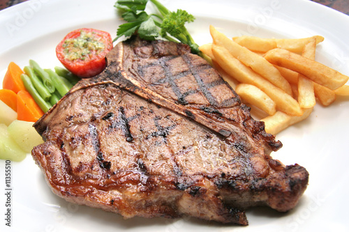 Papiers peints Steakhouse t-bone steak