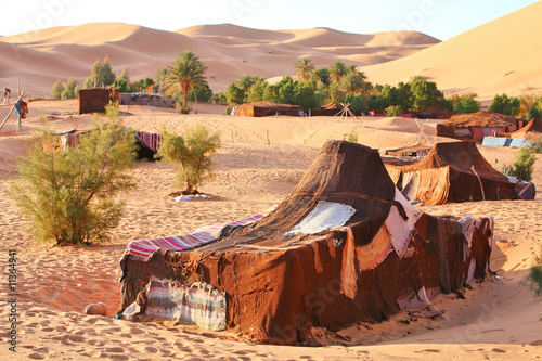 Fotografia The nomad (Berber) tent in the Sahara, Morocco