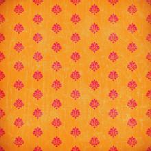 Orange Damask Grunge Wallpaper