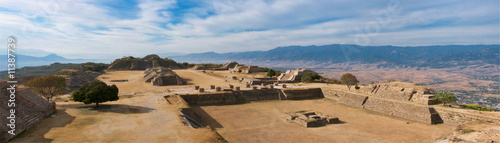 Stickers pour porte Mexique Panorama of sacred site Monte Alban in Mexico
