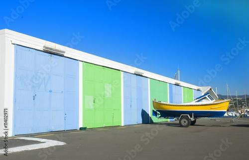 boat and garages Fototapeta