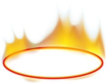 Fire Banner 02 - Burning Ellipse