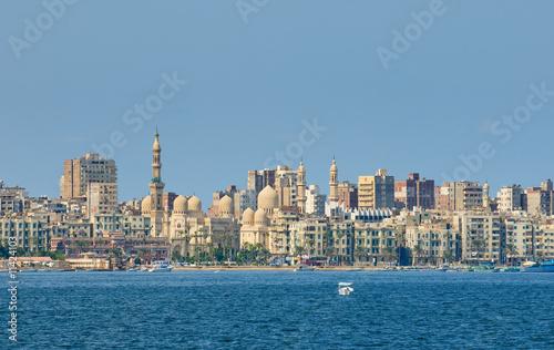 Tuinposter Egypte View of Alexandria harbor, Egypt