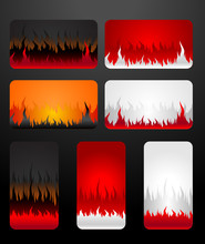 Blank Fire Business Cards