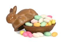 Bunny Dish Of Jordan Almonds