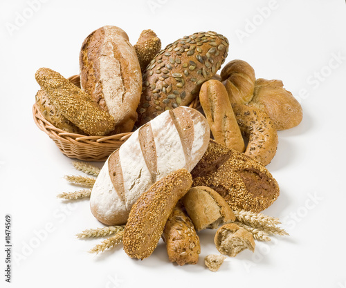 Variety of whole wheat bread