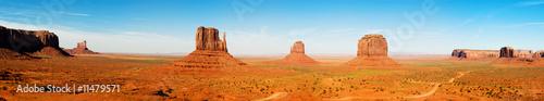 Foto op Aluminium Blauw Monument Valley Panorama