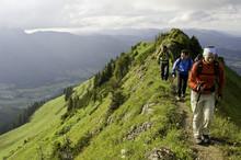 Bergwandern An Der Kanzelwand