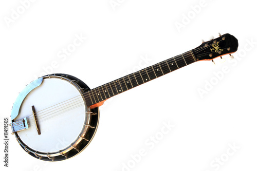 Cuadros en Lienzo Musical instrument banjo isolated on a white background.