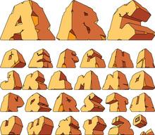Alphabet Made Of Stone