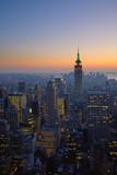 Fototapeta Nowy York - panorama of manhattan at sunset, new york