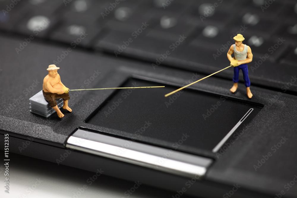 Fototapeta Online phishing and identity theft concept.