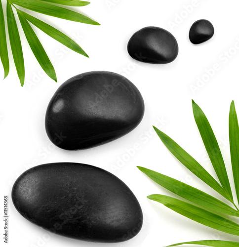 Doppelrollo mit Motiv - zen stones (von KMNPhoto)
