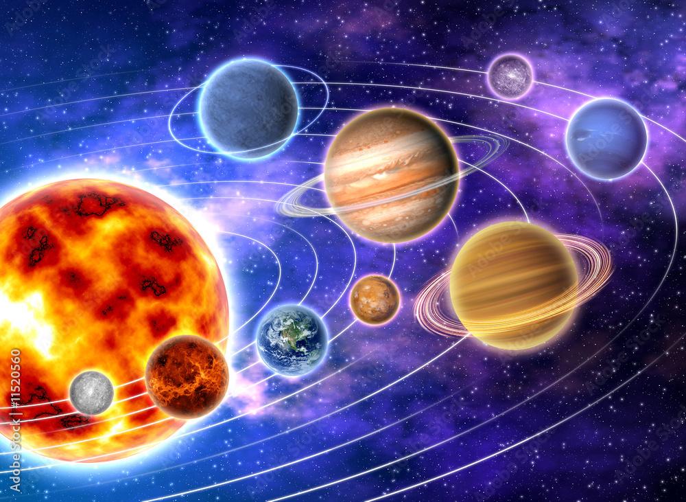 Fototapety, obrazy: Układ Słoneczny