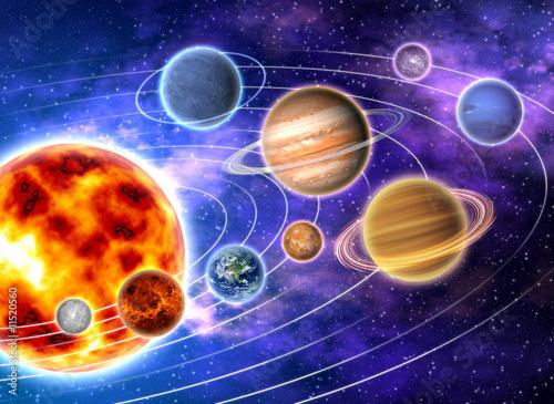 Obraz Układ Słoneczny - fototapety do salonu