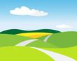 canvas print picture - Landschaft mit Weg