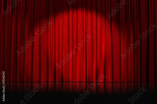 Photo rideaux rouges étoilés